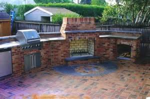 outdoor kitchen in brick brick patio outdoor kitchen