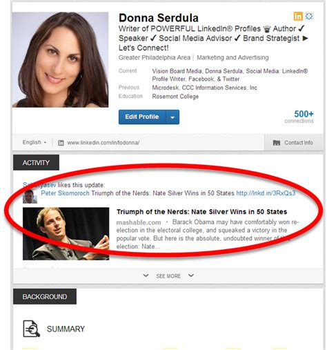 Resume Profiles Examples by What Happened To My Linkedin Profile S Activity Feed