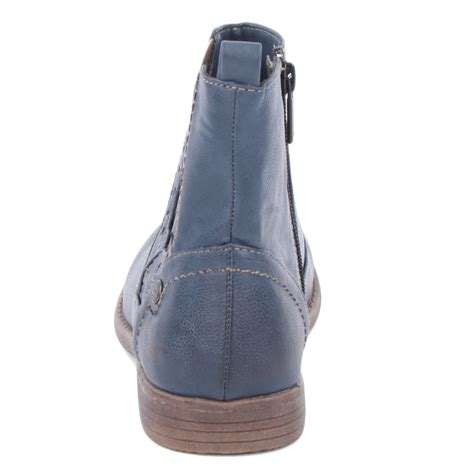 womens navy blue boots mustang 1134 601 800 womens size 3 4 5 6 7 8 chelsea boots