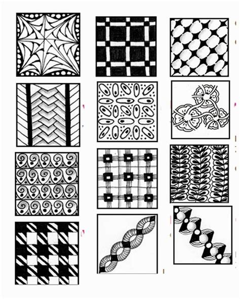 zentangle pattern sheet 17 best images about zentangle doodle patterns on