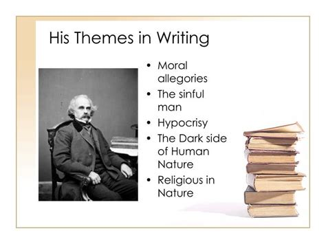 powerpoint for themes in literature ppt nathaniel hawthorne powerpoint presentation id 5255489