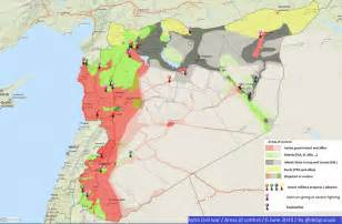 Syria Civil War Map by Syria Map Daraa Images