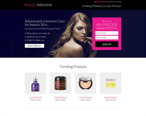 responsive landing page templates free premium themes