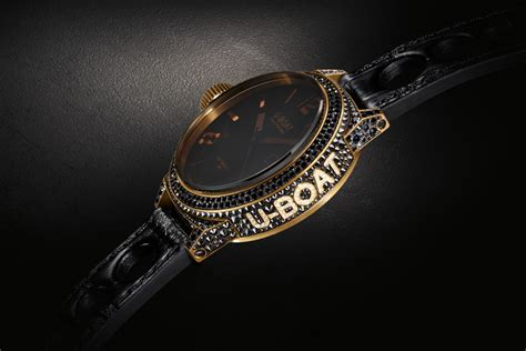 u boat diamond watch u boat black swan 18kt yellow gold black diamonds black