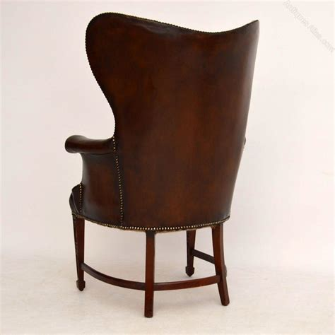antique leather armchair stylish antique leather mahogany wing armchair