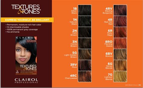 texture and tones color chart clairol professional permanent hair color textures and