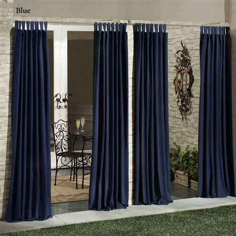 outdoor patio curtain panels matine indoor outdoor tab top curtain panels