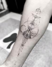 Elegant fine line geometric tattoos by dr woo by christopher jobson