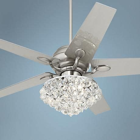 small chandelier ceiling fan 52 quot casa optima brushed steel ceiling fan