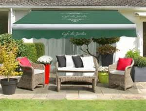 2 5m caf 233 du jardin on plain green replacement awning