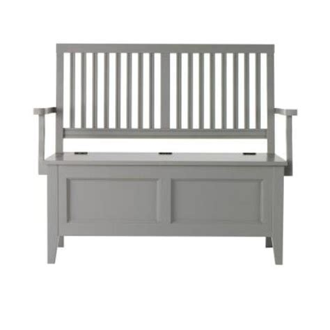 martha stewart entryway bench martha stewart living solutions 47 in w cement gray wood