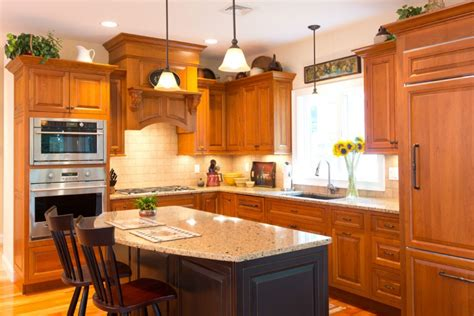 candlelight kitchen cabinets stain grade doors cabinetry revuu