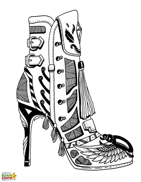 high coloring page high heel shoe coloring pages for adults and