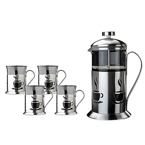bed bath and beyond french press buy berghoff 174 french press 5 piece coffee set from bed