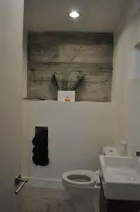 Shiplap Bathroom Exposed Concrete Bathroom Wall Detail