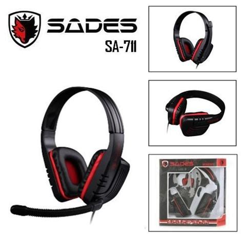 Headset Sades 711 headset ardy komputer