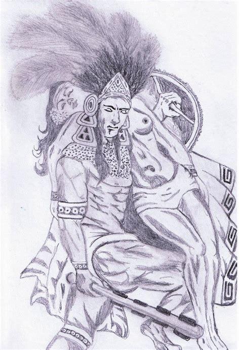 Aztec Warrior By Jaraiza On Deviantart Aztec Warrior Sketches