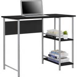 Computer Desk With Side Storage Walmart Mainstays Basic Student Desk Features Side Shelving