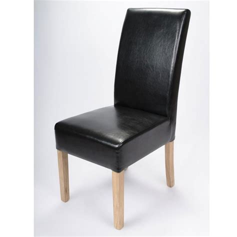 buy the salta black faux leather dining chair ascendi