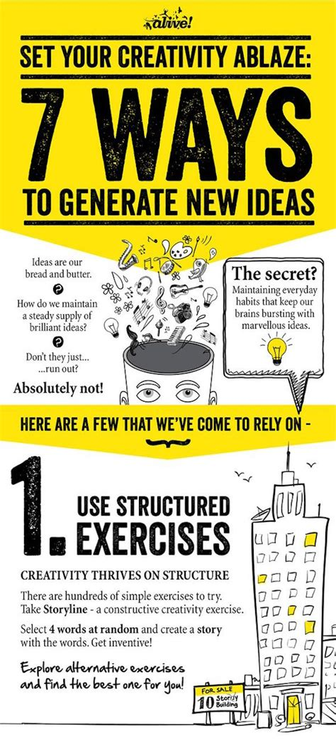 7 Ways To Exercise With Your by Infographic 7 Ways To Spark Creativity And Generate New