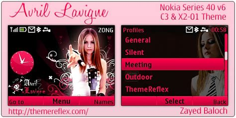 nokia themes rock темы для нокиа скачать avril lavigne arrowsoft