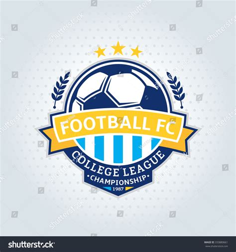 Soccer Football Club Logo Template Soccer Stock Vector 333880661 Shutterstock Nightclub Logo Template