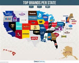 best of brand map reveals the most googled brands in every state daily