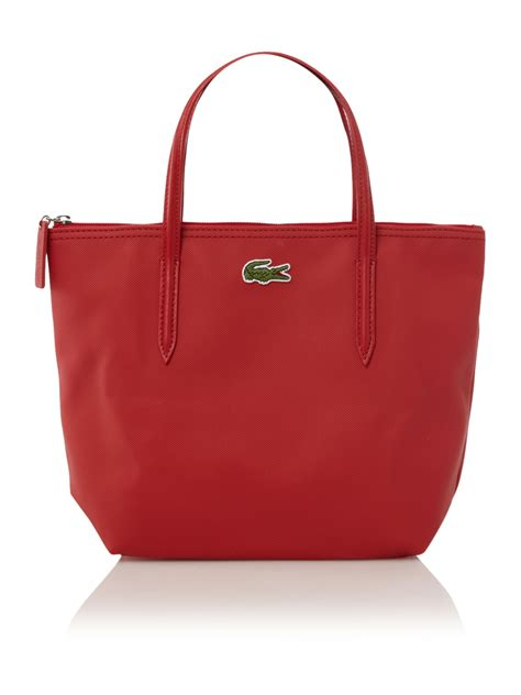 lacoste small shopping bag in lyst