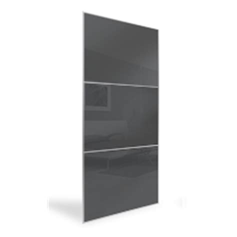Bunnings Wardrobe Doors by Flatpax 700mm Framed Gun Metal Grey Glass Sliding Wardrobe