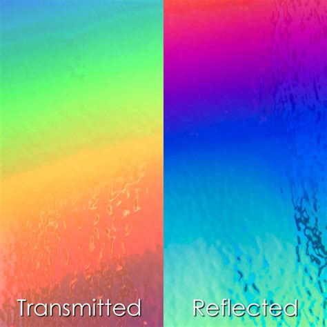 A Dichroic Look by Dichroic Iridescent Glass Material