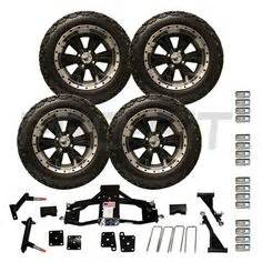 Road Truck Tire And Combo Club Car Tire And Wheel Lift Kit Combos On