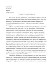 Hamilton Vs Jefferson Essay by History 115 Wk 5 Dq 1 The Southern And Western Parts Of The United States