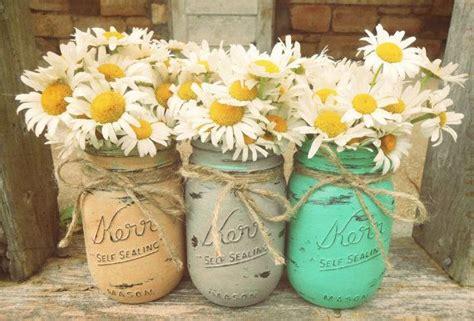 designated survivor vase mason jars painted mason jars flower vases rustic