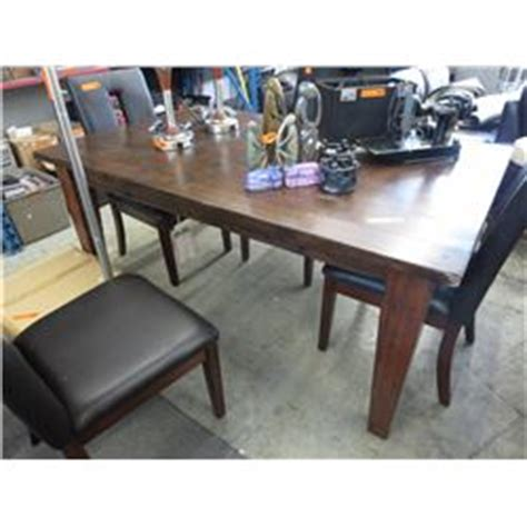 wood dining table with built in leaf