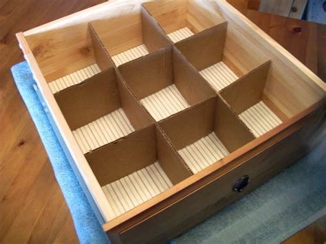 How To Make Dividers For Drawers by Upcycled Cardboard Drawer Dividers A Real Of Nyc