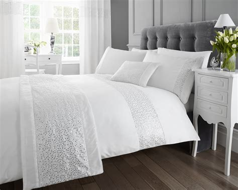Sparkle Comforter Set by Luxury Sparkle Glitz Duvet Quilt Cover Faux Silk Sequin