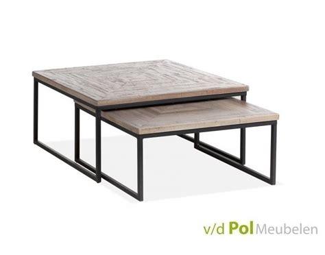 2 vierkante salontafels mf design set vierkante salontafels mastercraft kopen
