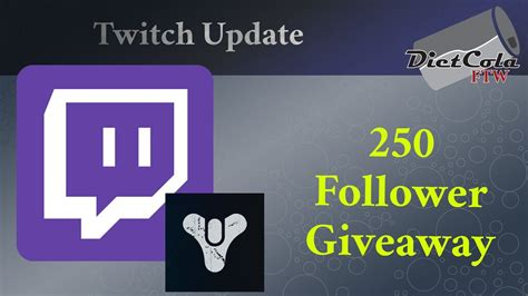 Twitch Giveaway For Followers - 250 followers on twitch 1000 destiny silver giveaway youtube
