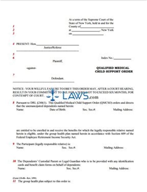 Md Child Support Search Form Ud 8b Qualified Child Support Order New York Forms Laws