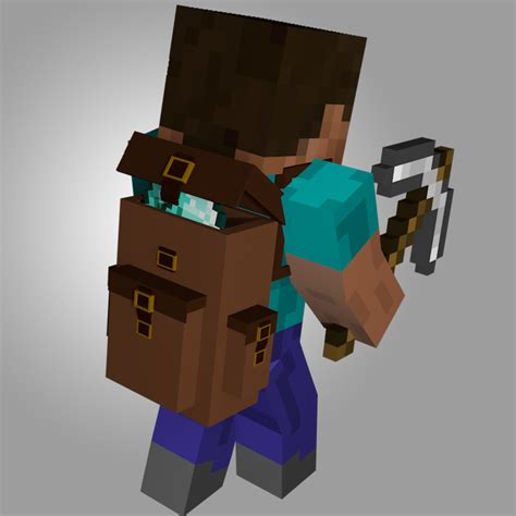 minecraft imac rig cinema 4d anz creations cinema 4d minecraft rucksack backpack rig other fan art fan art show your creation