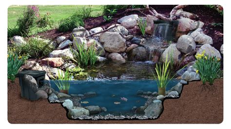 Backyard Kits by Backyard Waterfalls And Ponds Kits Outdoor Furniture Design And Ideas