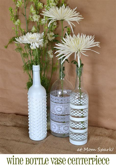 Spray Paint Glass Vases Boho Wine Bottle Vase Centerpiece Diy Mom Spark Mom