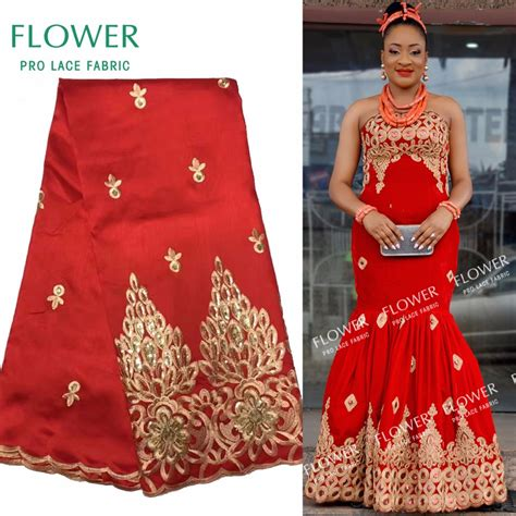 aliexpress nigeria african george lace indian design red for nigerian wedding