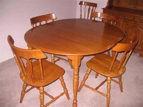 Maple Dining Room Set by Solid Maple Dining Room Set Oak Bay