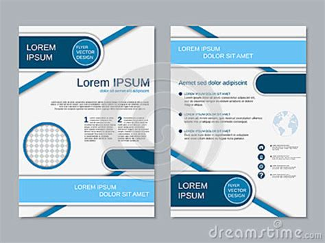 Modern Two Sided Flyer Vector Template Stock Vector Illustration Of Element Front 70101466 2 Sided Brochure Template