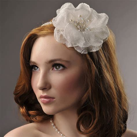 Handmade Wedding Headpieces - handmade juliet wedding headpiece by rosie willett designs
