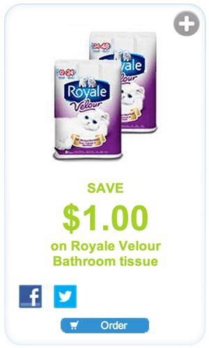 royale bathroom tissue coupon gocoupons ca royale coupons save 1 00 on royale velour bathroom tissue hot canada
