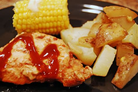 complete barbecue chicken dinner in the slow cooker eat at home