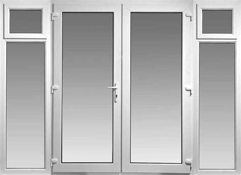 6ft Upvc French Doors With 2 Wide Side Panels Flying Upvc Barn Door