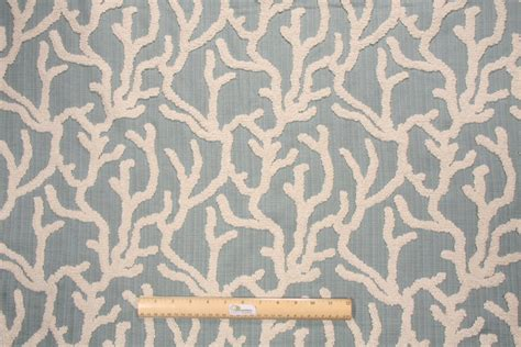 Sea Upholstery Fabric by Mill Creek Pulau Looped Crewel Upholstery Fabric In Sea